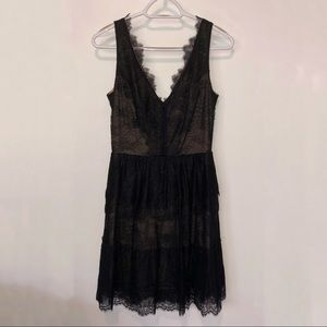 BCBG Willa Black Lace Dress